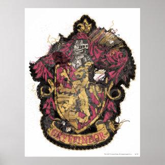 Escudo de Gryffindor - destruido Póster