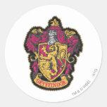 Escudo de Gryffindor Pegatinas Redondas