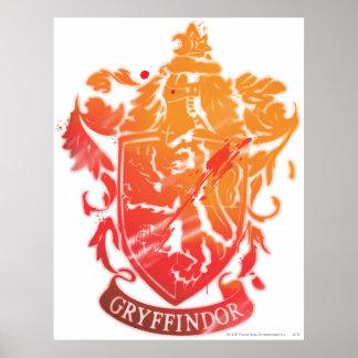 Escudo de Gryffindor - salpicado Póster