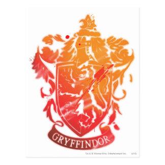 Escudo de Gryffindor - salpicado Tarjetas Postales