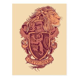 Escudo de GRYFFINDOR™ Tarjeta Postal