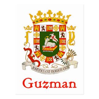 Escudo de Guzman de Puerto Rico Tarjetas Postales