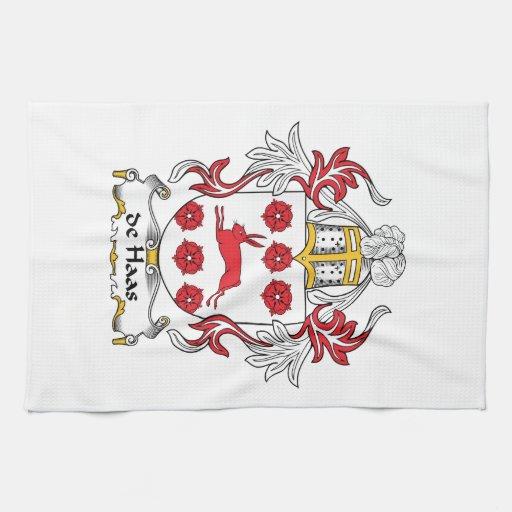 escudo de Haas Family Toalla De Mano