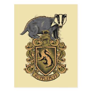 Escudo de Harry Potter el | Hufflepuff con el Tarjetas Postales