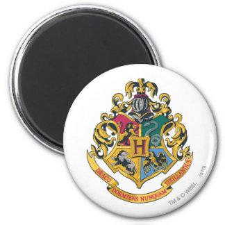 Escudo de Hogwarts a todo color Imán Redondo 5 Cm