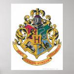Escudo de Hogwarts a todo color Impresiones