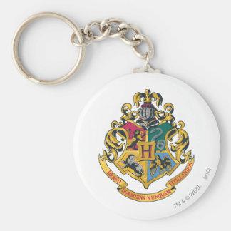 Escudo de Hogwarts a todo color Llavero Redondo Tipo Pin