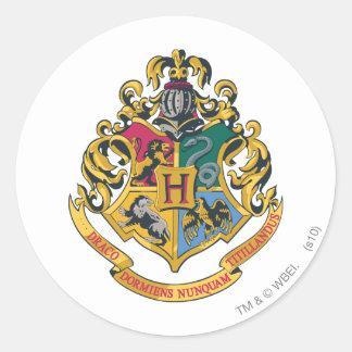 Escudo de Hogwarts a todo color Pegatina Redonda