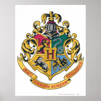 Escudo de Hogwarts a todo color Póster