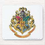 Escudo de Hogwarts a todo color Alfombrilla De Ratón