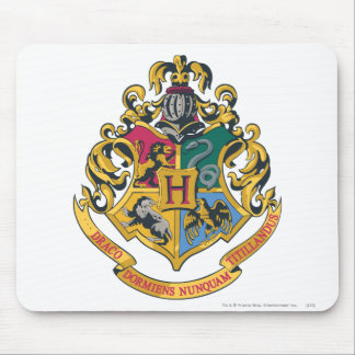 Escudo de Hogwarts a todo color Alfombrilla De Raton