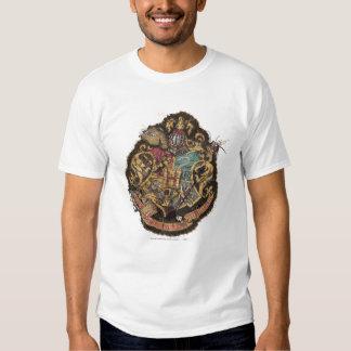Escudo de Hogwarts - destruido Poleras