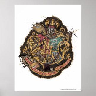Escudo de Hogwarts - destruido Póster