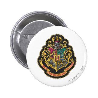 Escudo de Hogwarts Pin Redondo De 2 Pulgadas