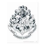 Escudo de Hogwarts Tarjetas Postales