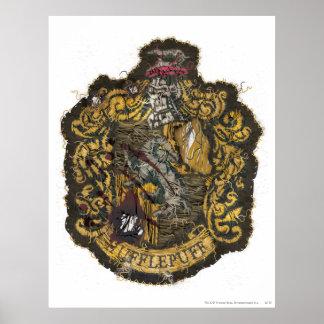 Escudo de Hufflepuff - destruido Póster