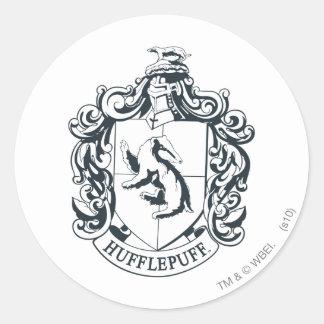 Escudo de Hufflepuff Etiqueta Redonda