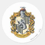 Escudo de Hufflepuff Pegatina Redonda