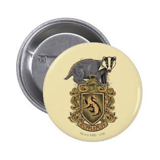 Escudo de HUFFLEPUFF™ Pin Redondo 5 Cm