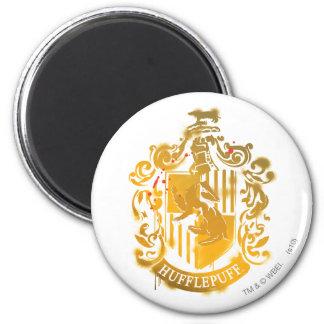Escudo de Hufflepuff - salpicado Imán Redondo 5 Cm