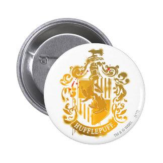 Escudo de Hufflepuff - salpicado Pin Redondo De 2 Pulgadas