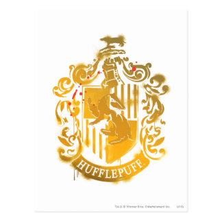 Escudo de Hufflepuff - salpicado Tarjetas Postales