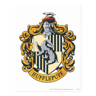 Escudo de Hufflepuff Postales