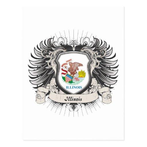 Escudo de Illinois Postales