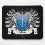 Escudo de Indiana Alfombrillas De Raton