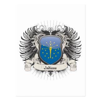Escudo de Indiana Postales