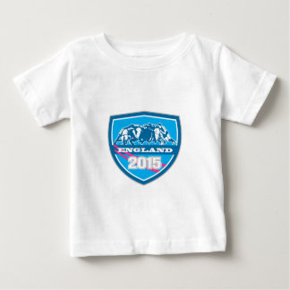 Escudo de Inglaterra 2015 del melé del rugbi T-shirt