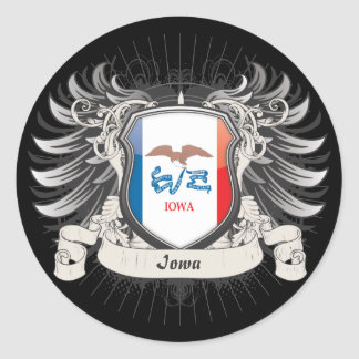 Escudo de Iowa Pegatinas Redondas