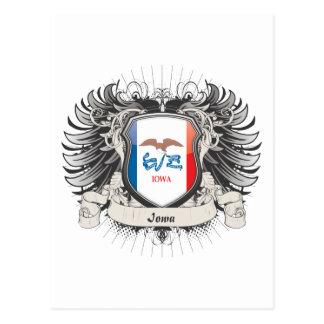 Escudo de Iowa Tarjetas Postales