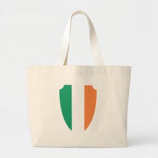 escudo de Irlanda Bolsa Tela Grande