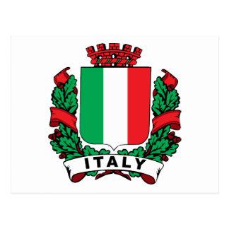 Escudo de Italia Tarjetas Postales