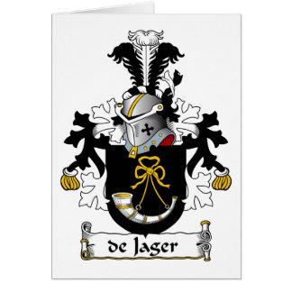 escudo de Jager Family Tarjeta De Felicitación