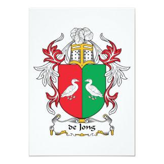 """escudo de Jong Family Invitación 5"""" X 7"""""""
