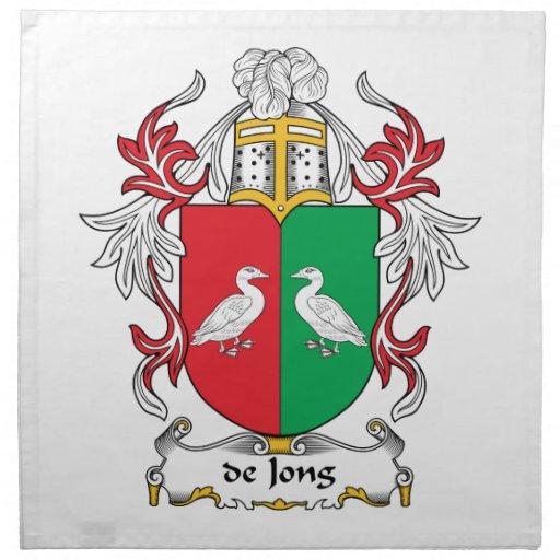 escudo de Jong Family Servilletas De Papel