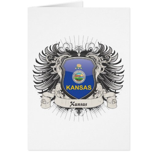 Escudo de Kansas Tarjeta De Felicitación
