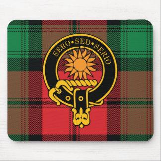 Escudo de Kerr y cojín de ratón escoceses del tart Tapete De Raton