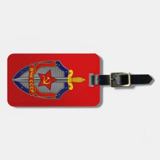 Escudo de KGB en rojo Etiquetas Bolsas