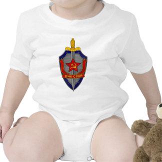 Escudo de KGB en rojo Camisetas
