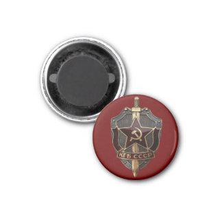 Escudo de KGB Imán Redondo 3 Cm