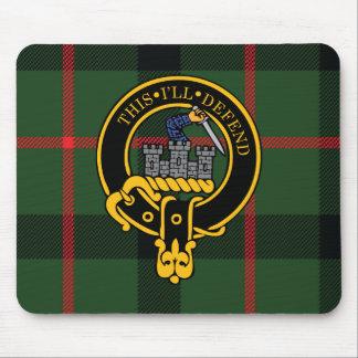 Escudo de Kincaid y cojín de ratón escoceses del t Tapetes De Raton