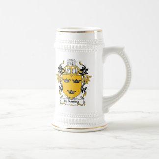 escudo de Koning Family Jarra De Cerveza