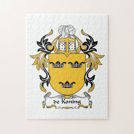 escudo de Koning Family Rompecabezas Con Fotos