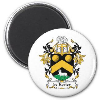 escudo de Koster Family Imán Redondo 5 Cm
