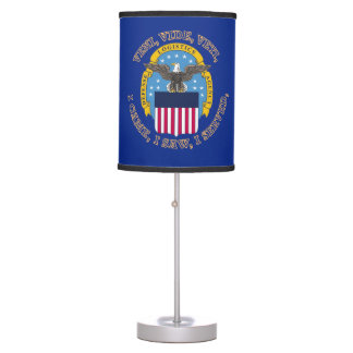 Escudo de la agencia de logística de defensa lámpara de mesilla de noche