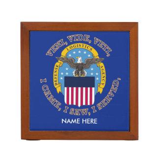 Escudo de la agencia de logística de defensa organizador de escritorio