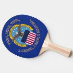 Escudo de la agencia de logística de defensa pala de ping pong